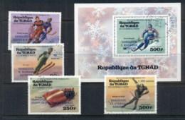 Chad 1976 Winter Olympics Opt Winners + MS CTO - Chad (1960-...)