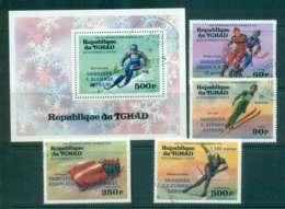 Chad 1976 Winter Olympics Winners + MS CTO Lot46327 - Chad (1960-...)