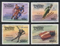 Chad 1976 Winter Olympics Winners Opts CTO - Chad (1960-...)