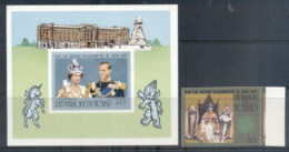 Chad 1977 QEII Silver Jubilee +MS IMPERF MUH - Chad (1960-...)