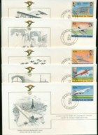 Chad 1978 History Of Aviation, FAI 5xFDC Lot79586 - Ciad (1960-...)