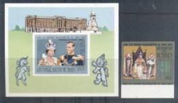 Chad 1978 QEII Silver Jubilee Opt QEII Coronation 25th Anniversary  +MS IMPERF MUH - Chad (1960-...)