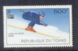 Chad 1979 Winter Olympics Lake Placid , Skiier 500f MUH - Chad (1960-...)