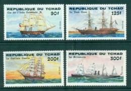 Chad 1984 Ships (4/8) MUH Lot41567 - Chad (1960-...)