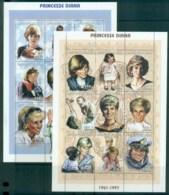 Chad 1997 Princess Diana In Memoriam 2xMS MUH Lot82002 - Chad (1960-...)