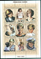 Chad 1997 Princess Diana In Memoriam, The Many Faces Of Diana 250f MS MUH - Chad (1960-...)