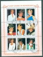 Chad 1998 Princess Diana In Memoriam MS CTO - Chad (1960-...)