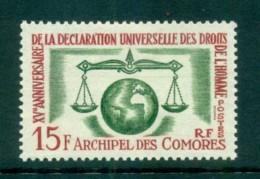 Comoro Is 1963 Human Rights MLH Lot73297 - Comoros
