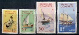 Comoro Is 1964 Ships, Canoe, Pirogue, Dhow MLH - Comoros