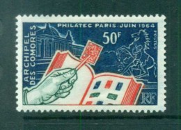 Comoro Is 1964 Stamp Day MLH Lot73302 - Isole Comore (1975-...)