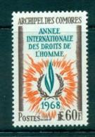 Comoro Is 1968 Human Rights MLH Lot73310 - Comoros