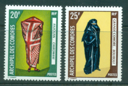 Comoro Is 1970 Costumes (gum Adhesions) MLH Lot38749 - Comoros