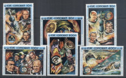 Comoro Is 1975 Apollo-Soyuz Joint Russia/USA Space Project MUH - Comoros