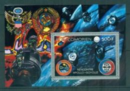 Comoro Is 1975 Spacecraft & Astronauts, Apollo-Soyuz MS MUH - Isole Comore (1975-...)