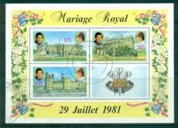 Comoro Is 1981 Charles & Diana Wedding MS FU Lot44867 - Comoros