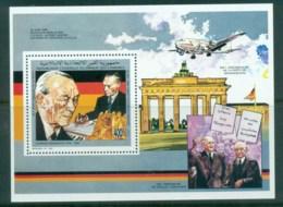 Comoro Is 1991 Brandenburg Gate, Konrad Adenauer MS MUH - Comoros