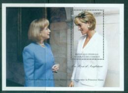 Comoro Is 1997 Princess Diana In Memoriam, Hilary Clinton MS MUH - Isole Comore (1975-...)