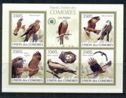 Comoro Is 2009 Birds, Eagles MS MUH - Comoros