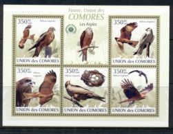 Comoro Is 2009 Birds, Eagles MS MUH - Isole Comore (1975-...)