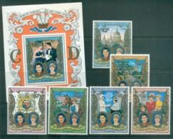Djibouti 1981 Charles & Diana Royal Wedding + MS MUH Lot81947 - Djibouti (1977-...)