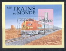 Djibouti 2000 Trains Of The World, War Bonnet MS MUH - Djibouti (1977-...)