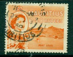 Mauritius 1954 QE Pictorials 2.50r Port Louis FU - Mauritius (1968-...)