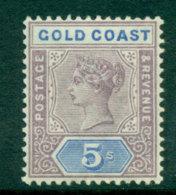Gold Coast 1889-94 5/- Dull Mauve & Blue MH Lot27518 - Costa D'Oro (...-1957)