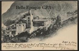 Suisse - VS - STALDEN / Hôtel & Buffet - Famille Lagger ++ Lacombe Arlaud, Genève ++ To Brooklyn, NY, USA, 1904 ++ RARE - VS Valais