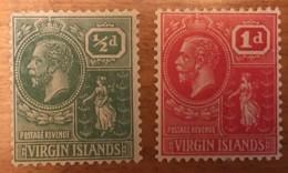Virgin Islands - MH* - 1922-28 - # 53, 54 - British Virgin Islands