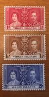 Virgin Islands - MH* - 1937 - # 73/75 - British Virgin Islands