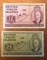 Virgin Islands - MH* - 1951 - # 98/100 - British Virgin Islands