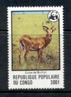 Congo 1978 WWF Buffon's Kob 300f MUH - Congo - Brazzaville