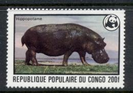 Congo 1978 WWF Hippopotamus 200f MUH - Congo - Brazzaville