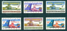 Congo DR 1963 Air Congo Leopoldville Airport N'Djili MUH - Congo - Brazzaville