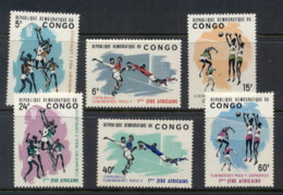 Congo DR 1965 First African Games MUH - Congo - Brazzaville