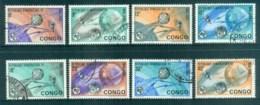 Congo DR 1965 ITU Centenary, Earth & Satellites CTO - Congo - Brazzaville