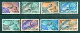 Congo DR 1965 ITU Centenary, Earth & Satellites MUH - Congo - Brazzaville