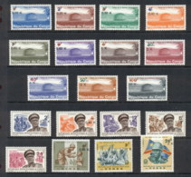 Congo DR 1970 Surcharges, Opts MUH - Congo - Brazzaville