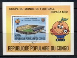 Congo PR 1980 World Cup Soccer Espana '82 MS CTO - Congo - Brazzaville