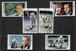 RAS AL KHAIMA 1971 APOLLO XIV  YVERT N°64-A71 OBLITERE - Space
