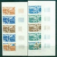 Afars & Issas 1967 25f & 30f Lower Right Margin Progressive Colour Proofs, Str5 MUH - Afars Et Issas (1967-1977)