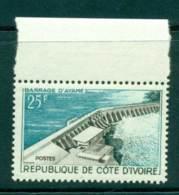 Ivory Coast 1961 Ayame Dam MUH Lot41645 - Ivory Coast (1960-...)