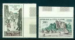 Ivory Coast 1962 Views Air Mail (2) MUH Lot41652 - Ivory Coast (1960-...)