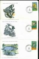 Ivory Coast 1979 WWF,Monkey, Duiker, Manatee ,Franlkin Mint (with Inserts) 3xFDC Lot79626 - Ivory Coast (1960-...)