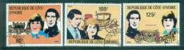 Ivory Coast 1981 Charles & Diana Wedding CTO CTO Lot46287 - Ivory Coast (1960-...)