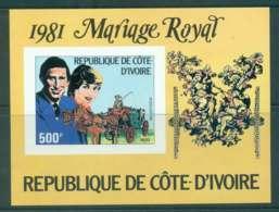 Ivory Coast 1981 Charles & Diana Wedding IMPERF MS MUH Lot45038 - Ivory Coast (1960-...)