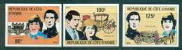 Ivory Coast 1981 Charles & Diana Wedding IMPERF MUH Lot45035 - Ivory Coast (1960-...)