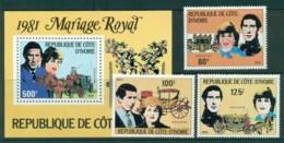 Ivory Coast 1981 Charles & Diana Wedding MUH Lot30317 - Ivory Coast (1960-...)