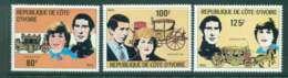 Ivory Coast 1981 Charles & Diana Wedding MUH Lot45033 - Ivory Coast (1960-...)