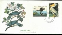 Ivory Coast 1985 Audubon Birds,  Franlkin Mint FDC Lot79639 - Ivory Coast (1960-...)